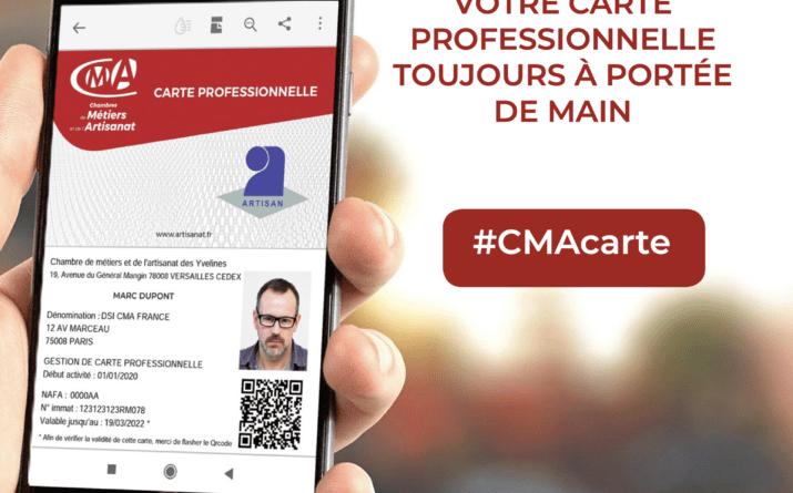 MA CARTE PROFESSIONNELLE D'ARTISAN